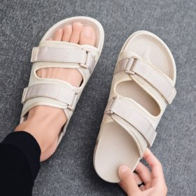Slippers Men Lightweight Mens Sandals Indoor Room Mesh Causal Shoes Breathable Outdoor Beach Shoes 2021 Summer Sandalias Hombre