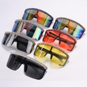Colorful, broken diamonds, sunglasses, sunglasses