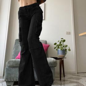 High waist, straight tube, jeans, slim, casual pants
