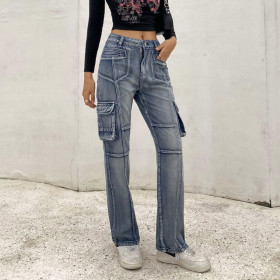 High waist, casual, jeans, trousers