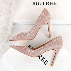 Banquet, slim, thin heel, super high heel, shallow mouth, pointed head, high-heeled shoes, female