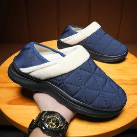 Winter Warm Women Home Unisex Warm Plush House Short Plush Soft Cotton Non-Slip Flats Lightweight Indoor Slippers Couple Shoes