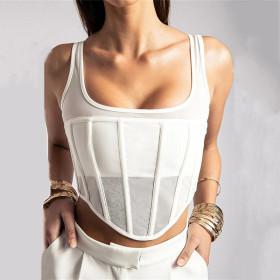 Perspective, double layer, T-shirt, suspender, vest