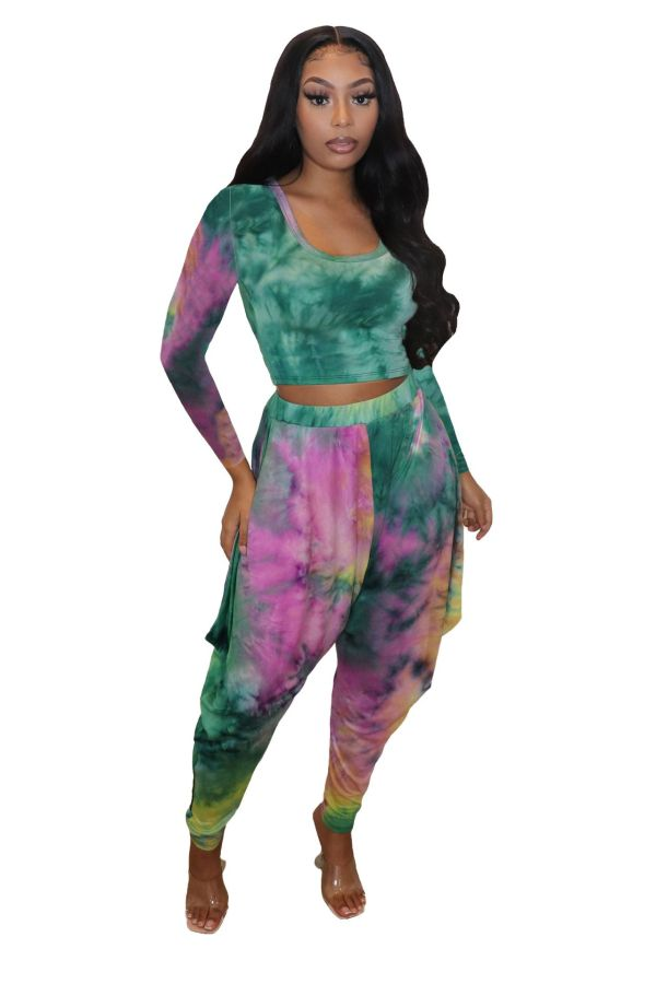 Printed, featured, two piece set, set