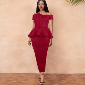 Bra, ruffle, high waist, Hip Wrap Skirt, dress