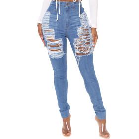 Holes, washed, slim fit, elastic jeans, Leggings