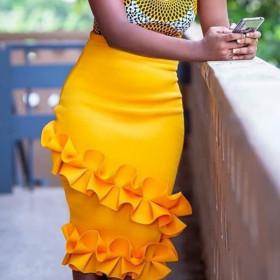 High waist, slim, large, skirt