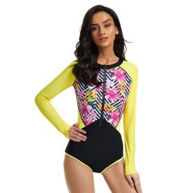 One piece, long sleeve, surf suit, sunscreen, diving suit, swimsuit