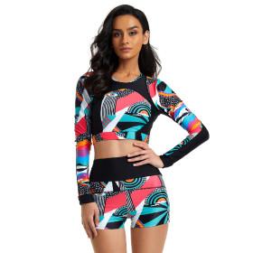 Split, long sleeve, surf suit, diving suit, swimsuit
