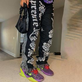 Fashion, color, pattern, tassel pants