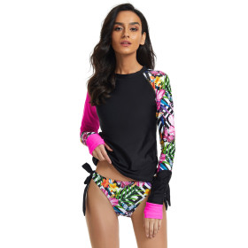 Split, long sleeve, surfing suit, sunscreen, swimsuit