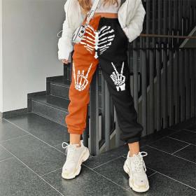 Halloween, thickened, loose, large, Hip Hop Pants, sports Harlan pants