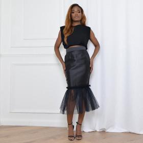Hip Wrap, patchwork skirt, nightclub skirt