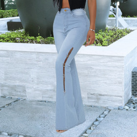 Fashion, metal decoration, jeans, bell bottoms