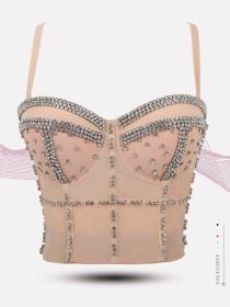 Nail bead, bright diamond, bra, fish bone shaping, wearing bra