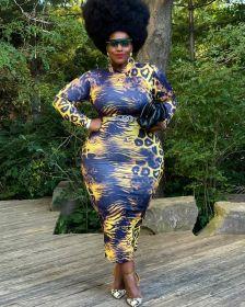 Large, zipper, printed, medium waist, medium skirt