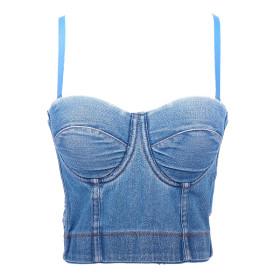 Fishbone, denim sling, vest, backless, bra, underwear
