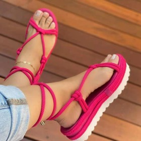 Thick sole, muffin, hemp rope, weaving, sandals