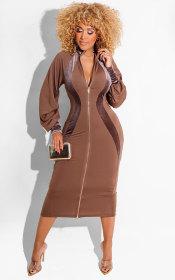 dress, long sleeve, skirt