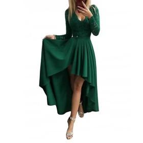 Pullover, fishtail, dress, V-neck dress