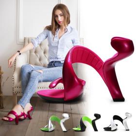 Sandals, high heels, serpentine, winding bottomless