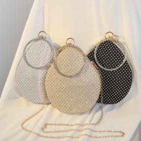 Diamond type, all water diamond, dinner bag, diamond inlay, portable messenger bag, net diamond