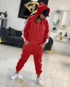 Sexy, fashion, solid color, stitching, hat, sweater, sports, suit