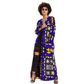 Fashion, leisure, printing, long coat (including belt)