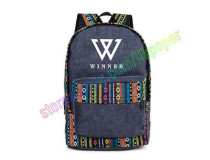 ALLKPOPER KPOP Winner Seung Yoon Backpack Cavas Schoolbag National Bag Satchel