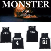 ALLKPOPER EXO Basketball Singlet EX'ACT Tshirt Monster Sleeveless Shirt Kpop T-Shirt Tee