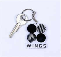 ALLKPOPER New BTS Keychain Bangtan Boys Wings You Never Walk Alone Keyring For ARMY Gift