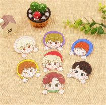 ALLKPOPER KPOP GOT7 Cartoon Stickers Jackson Cute Expression Adhensive Photo Paster Mark