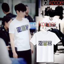 ALLKPOPER KPOP EXO Lay T-shirt ZYX Letter Design Street Shooting Tshirt 2017 New Casual Tops