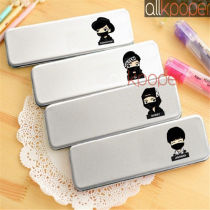 ALLKPOPER KPOP IKON Pencil Case School Stationary Metal Pen Box Makeup BI BOBBY JUNHOE CHANWOO
