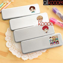 ALLKPOPER KPOP EXO Pen Box Metal Pencil Case School Stationary Makeup DO KAI SUHO LAY