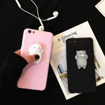 ALLKPOPER Squishy 3D Soft Silicone Cat Kneading Phone Case Cover For iPhone 6 6s 7 Plus