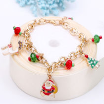 ALLKPOPER Fashion Gold Women Jewelry Christmas Chain Charm Santa Claus Tree Deer Bracelets