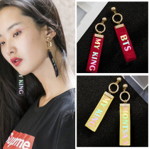Kpop Monsta X Earrings Seventeen BTS Laser Tassel Earring GOT7 SHINee Wanna One