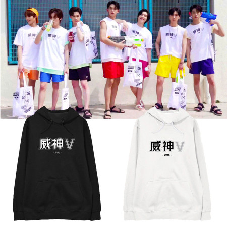 KPOP NCT team WayV sweater the same style sweater hooded hoodie plus velvet thin Sweatshirt