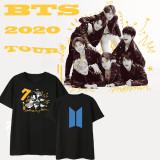 Kpop BTS T-shirt Bangtan Boys 2020 Returns Q Version Short Sleeve T-shirt V JIN JUNGKOOK