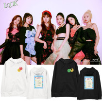 Kpop APINK New Album Hooded Sweater Coat Shoulder Clothes Fashion Street Spring and Autumn Plus Velvet Thin