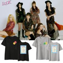 Kpop APINK New Album T-shirt Same Paragraph Short Sleeve Fans Clothes Korean Version Loose Top Yoon BoMi  Son NaEun  Jeong EunJi   Park ChoRong   Oh HaYoung  KimNamJoo
