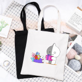 Kpop BTS Shoulder Bag Bangtan Boys Canvas Bag BT21 cute Storage Bag Handbag