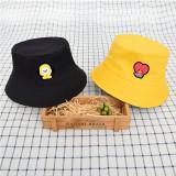 Kpop BTS Hat Bangtan Boys Hat Visor Hat Basin Hat Double-sided Fisherman Hat Street Men and Women Summer CHIMMY