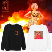 Kpop MAMAMOO SOLO Round Neck Sweater Sweatershirt Korean Style Loose Plus Velvet Thin Round Neck Sweater
