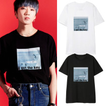 Kpop WINNER T-shirt Seung Yoon same Short-sleeved T-shirt Korean Version Loose Fashion Bottoming Shirt Short Sleeve
