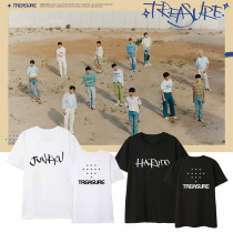 Kpop Treasure T-shirt Combination Gem Box Debut T-shirt Short Sleeve T-shirt Simple Loose Casual Bottoming Shirt Short Sleeve