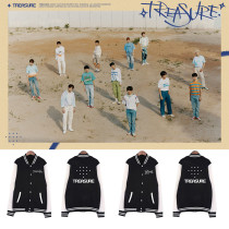 Kpop Treasure baseball uniform combination gem box debut baseball uniform Korean version loose spring and autumn coat clothes