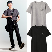 Kpop WINNER T-shirt Seung Yoon same Short-sleeved Korean Version Simple and Loose Casual T-shirt Summer