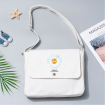 Kpop G-Dragon Canvas Bag Daisy Print Shoulder Bag Student Crossbody Bag Cute Fresh Casual Bag